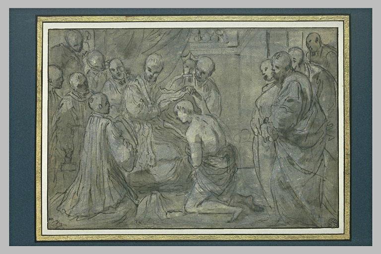 Les fondateurs de l'ordre de Servite prenant l'habit religieux