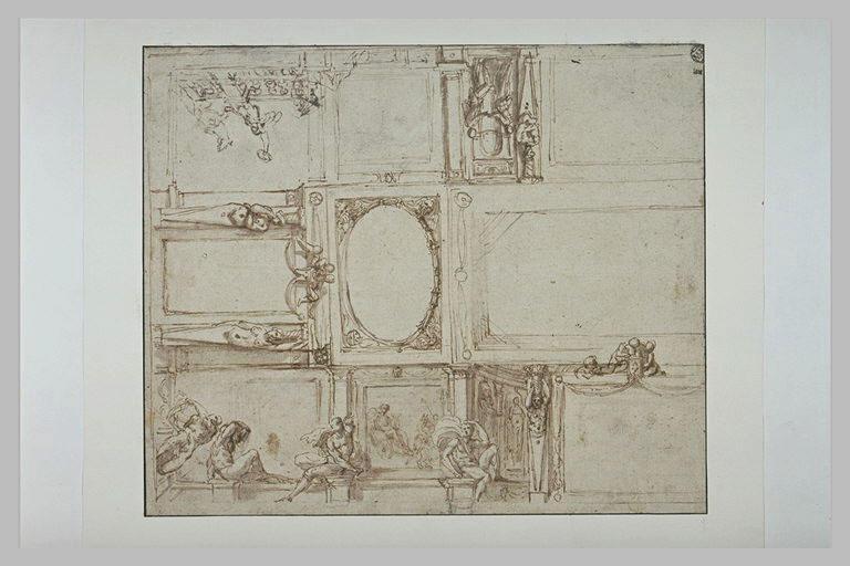 Projet de décoration de plafond pour la Galerie Farnèse