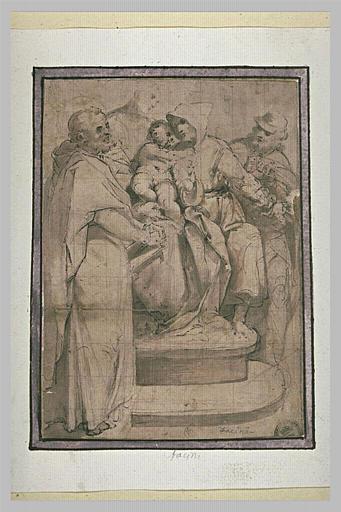 Vierge à l'Enfant adorée par saint Roch, saint Jean et saint François