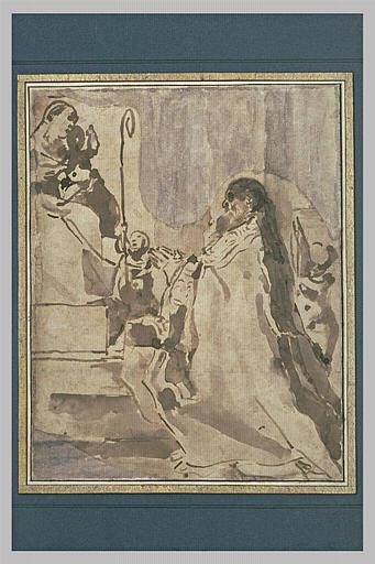 Saint Raymond de Peynafort priant la Vierge à l'Enfant