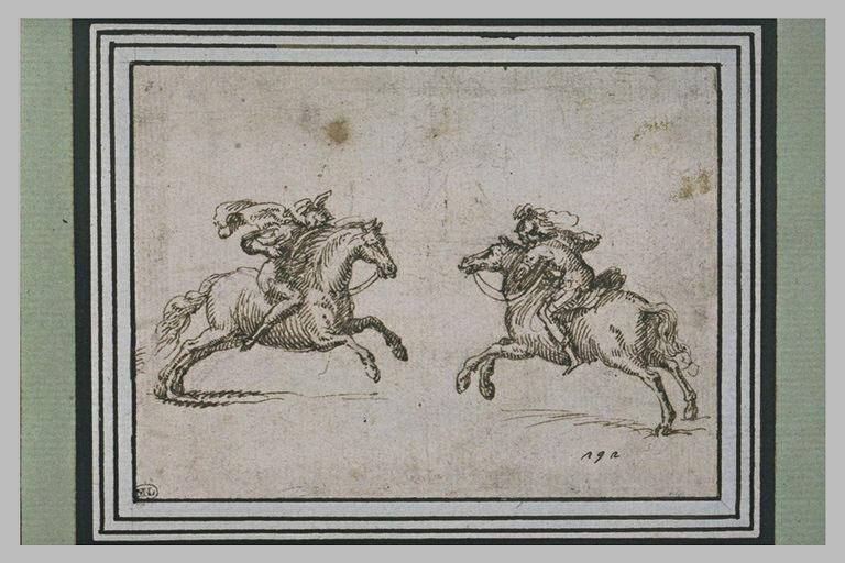Deux cavaliers s'affrontant