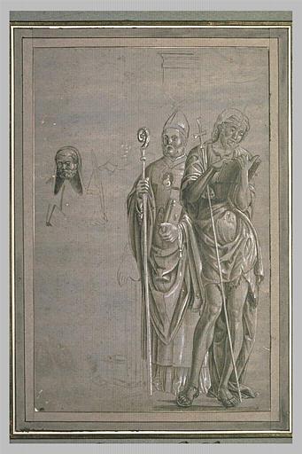 Trois études de saints debout