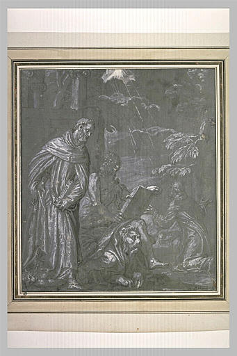 Saint Léonard, saint Marc et saint François recevant les stigmates