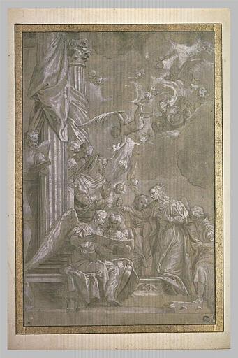 Les anges célébrant le mariage de sainte Catherine d'Alexandrie
