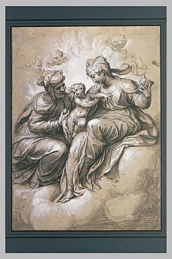 La Vierge, l'Enfant Jésus et sainte Anne jouant avec lui