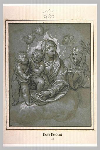 La Vierge et l'Enfant entourée du petit saint Jean et de saint François_0