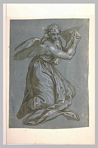 Un ange drapé, à genoux