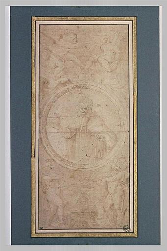 Saint Antoine dans un médaillon, entouré de putti
