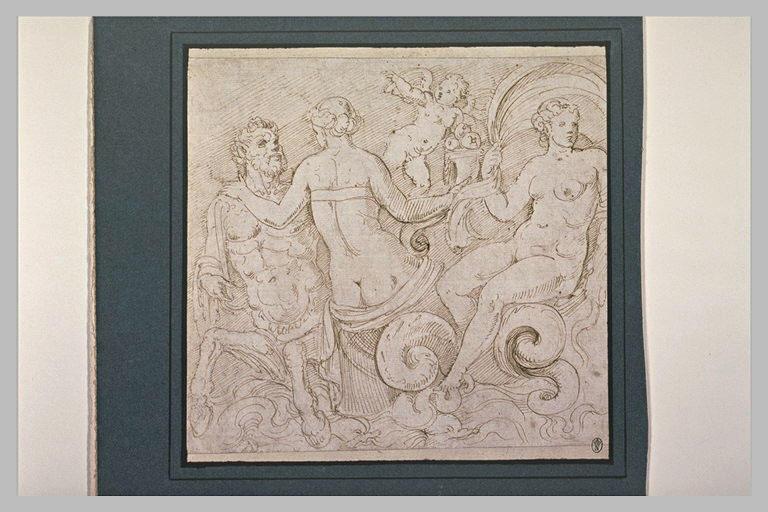 Détail d'un triomphe d'Amphitrite avec un centaure