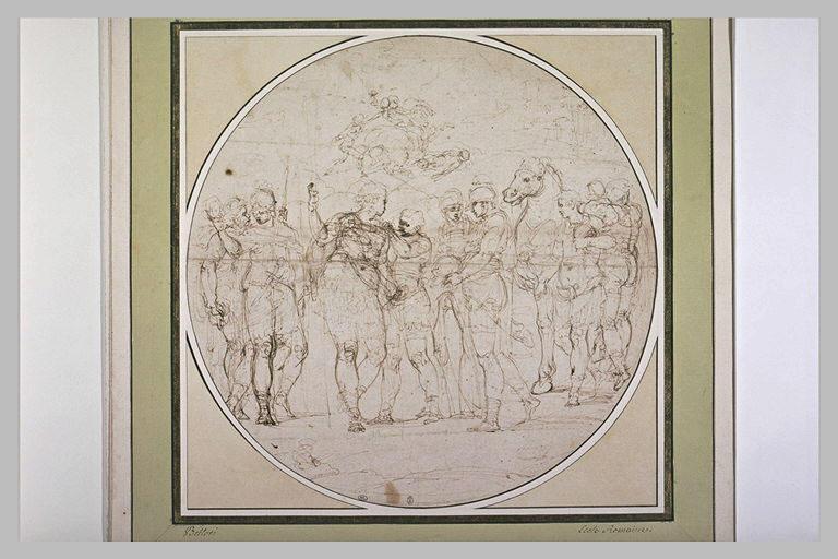 Achille revêtant son armure, et croquis évoquant la mort de Patrocle