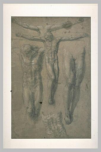Diverses études pour un Christ sur la croix
