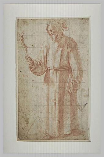 Saint François tenant un crucifix