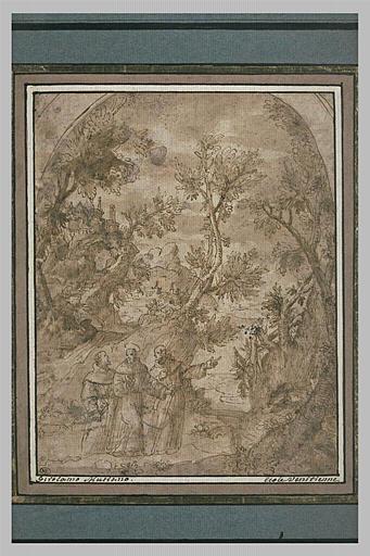 Saint François en voyage avec deux de ses compagnons