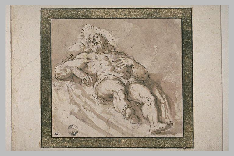 Le Christ mort, étendu sur le dos