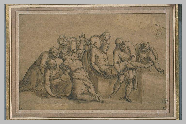 Mise au tombeau avec la Vierge évanouie