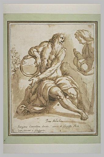Une femme présentant un enfant à Saturne