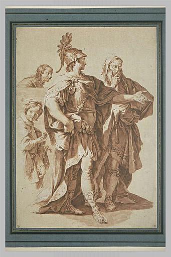 Un guerrier, un prêtre et deux hommes : figures du Monument à Lord Dorset