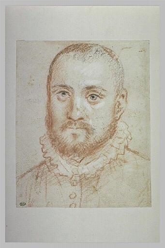 Portrait d'homme, avec une collerette