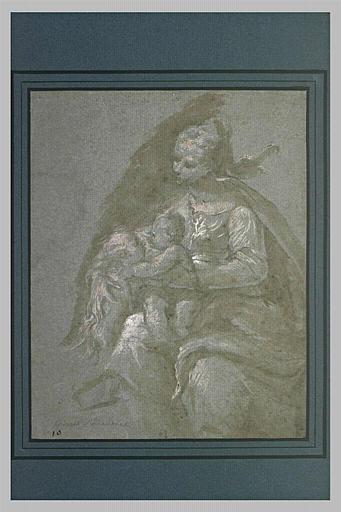 La Vierge avec l'Enfant jouant avec le petit saint Jean