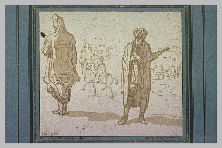 Deux personnages en costumes orientaux