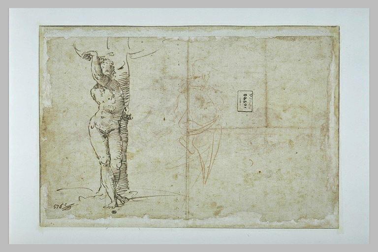 Saint Sébastien, et guerrier casqué