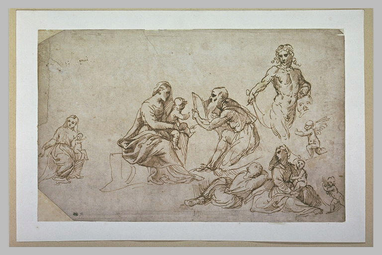 Plusieurs Vierge à l'Enfant, Sainte Famille, David tenant la tête de Goliath