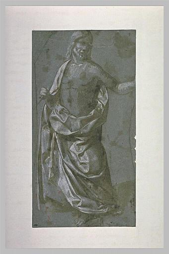 Le Christ debout, vu de face, en Rédempteur