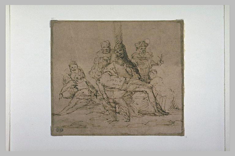 Pietà, composition de six figures