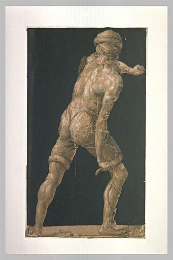 Homme de dos, étude pour l'un des bourreaux de la Flagellation
