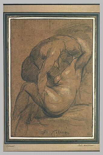 Homme nu enlevant une femme nue_0