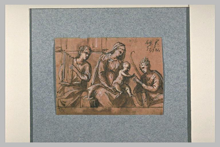 La mariage mystique de sainte Catherine, avec sainte Cécile
