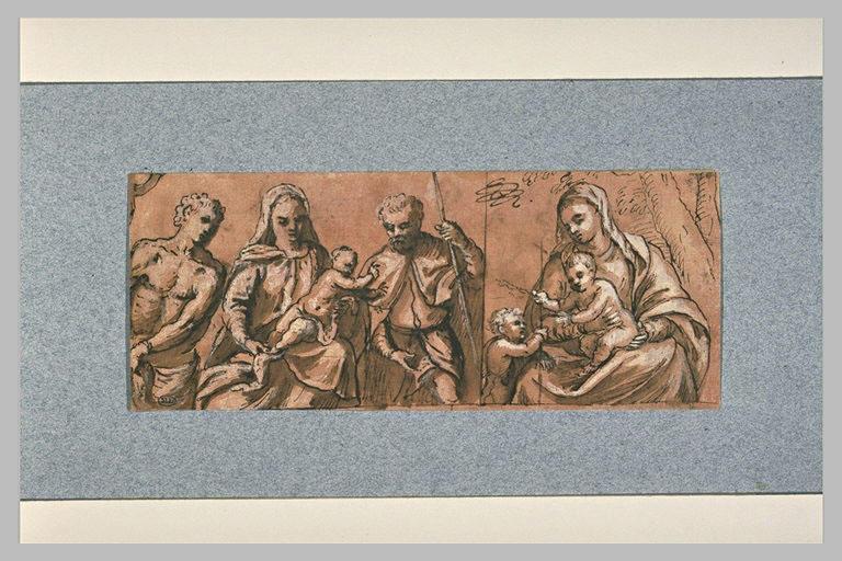 Vierge à l'Enfant avec deux saints ; Vierge à l'Enfant et le petit saint Jean