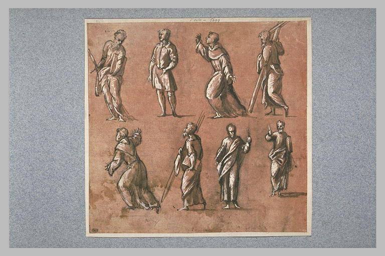 Etudes pour saint Paul, saint François, et d'autres saints, debout