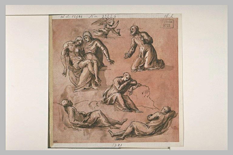 Etude pour une Agonie au Jardin des Oliviers, et pour une Pietà