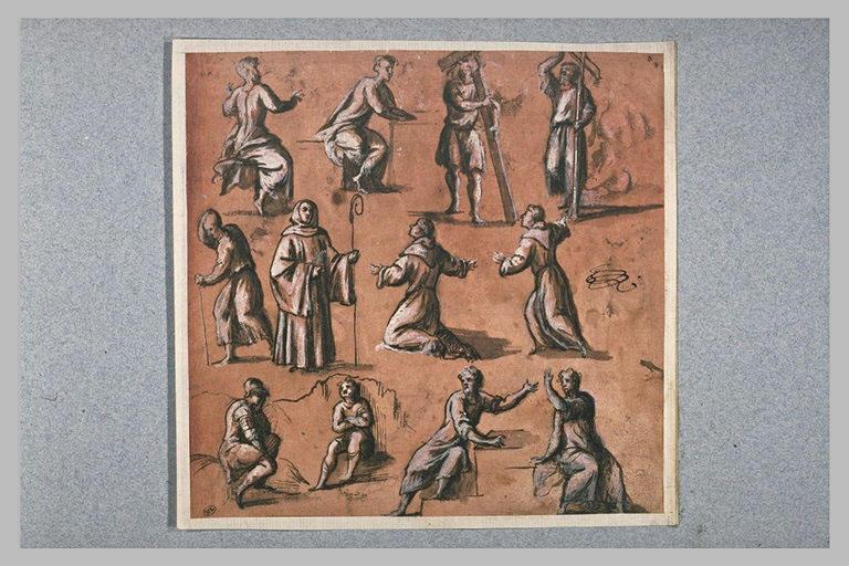 Diverses études de saints, et d'autres figures