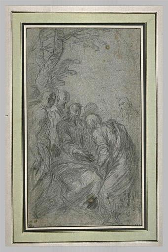 Le Christ tendant la main à un disciple