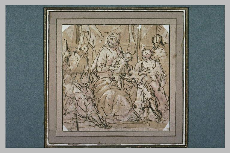 Vierge à l'Enfant avec saint Jean-Baptiste et d'autres saints