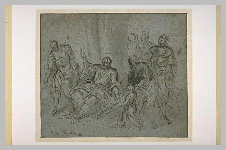 Le Christ faisant approcher un petit enfant