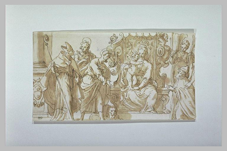 Vierge à l'Enfant trônant, entourée de saints