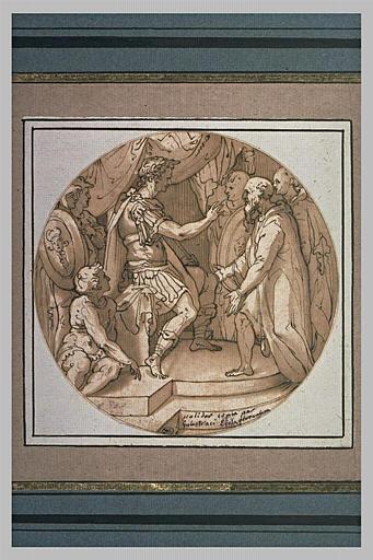 Un empereur romain reçevant des suppliants