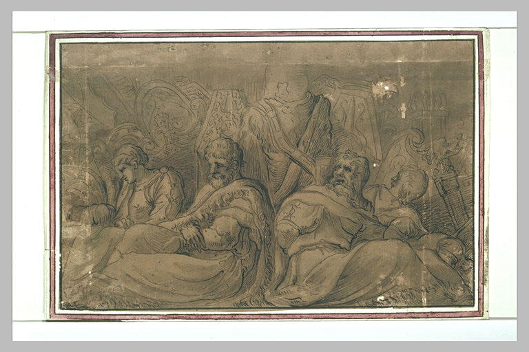 Prisonniers et trophées : victoire des romains sur les parthes (?)