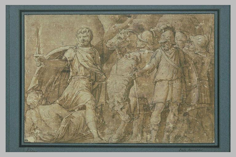 Mucius Scaevola traverse le Tibre à la recherche de Porsenna