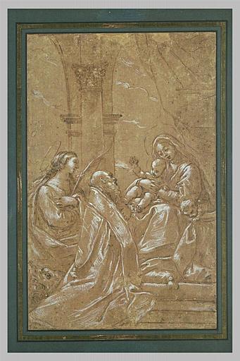 Sainte Marguerite et saint Jérôme adorant la Vierge à l'Enfant