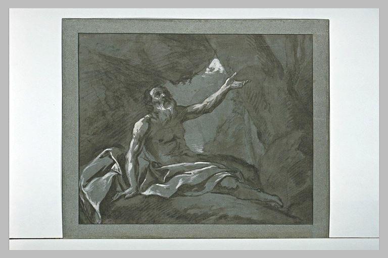 Le prophète Elie recevant le pain que lui apporte un corbeau