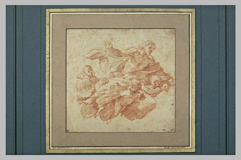 Le Christ porté par trois anges
