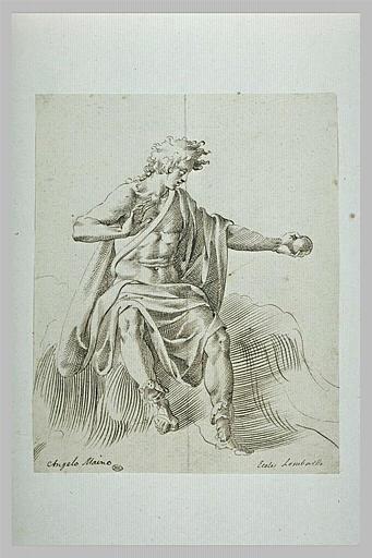 Jeune homme à demi nu, tendant un objet de la main gauche