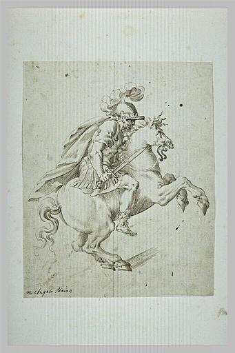 Cavalier sur un cheval qui se cabre