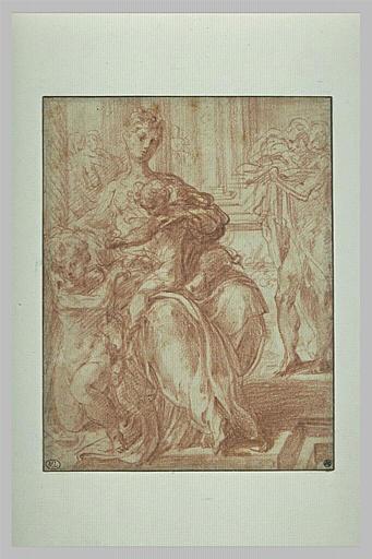 Vierge à l'Enfant avec le petit saint Jean et saint Jérôme