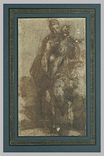 La Vierge avec l'Enfant Jésus, debout
