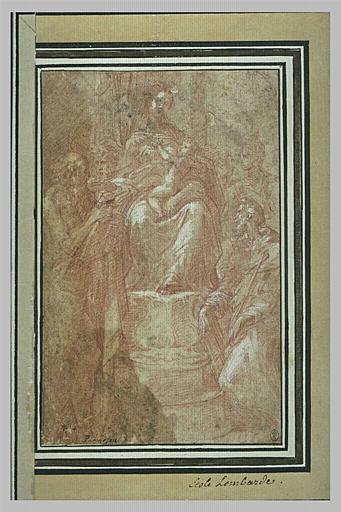 Vierge à l'Enfant trônant avec saint Jérôme, saint François et des saints